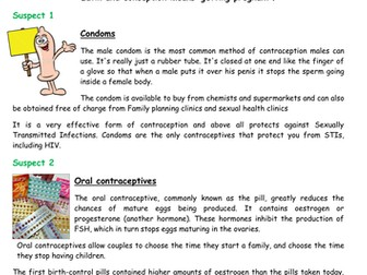 SRE sexual health contraceptive methods contraception complete lesson KS3 KS4 PSHE