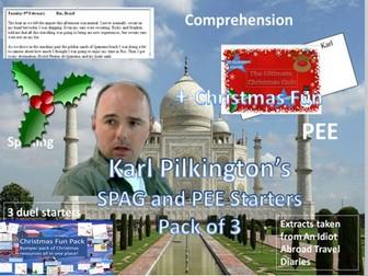 Karl Pilkington's PEE and SPAG Starters + Christmas Fun