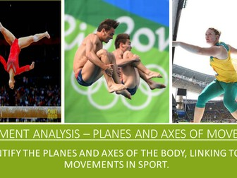 GCSE PE AQA (9-1) Movement Analysis- Planes and Axes
