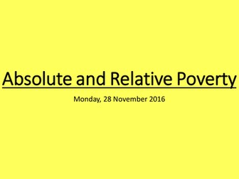 Absolute and Relative Poverty: A Level Economics