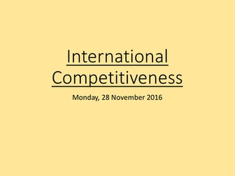 International Competitiveness: A Level Economics