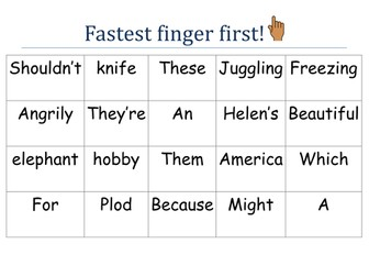 Fastest Finger First - Year 6 SPAG game