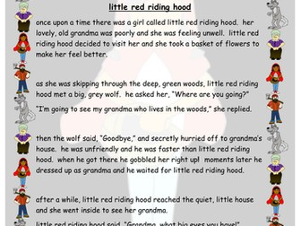 Capital Letters and Full Stops - Little Red Riding Hood - Computing