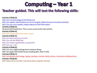 Computing Assessments - Year 1