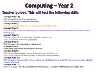 Computing Assessments - Year 2