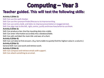 Computing Assessments - Year 3