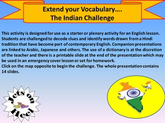Extend your Vocabulary, The Hindi Challenge