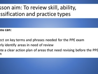 WJEC (eduqas) A'level PE 2016 - Skill aqcuisition PPE revision lesson