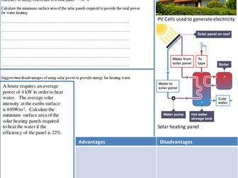 Solar Energy revision guide