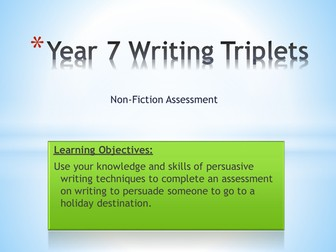 Year 7- Write to persuade