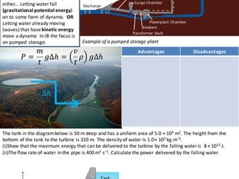 Pumped Storage, GPE and KE revision notes
