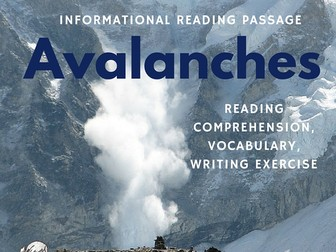 Winter Informational Reading Passage - Avalanches