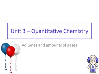 2016 AQA GCSE chemistry - Unit 3 - Lesson 7 - volumes and moles of gases - molar gas volumes