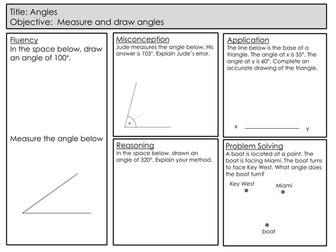 Mastery Maths - Angles - Drawing and Measuring Angles