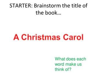 A CHRISTMAS CAROL - INTRO TO SCROOGE - GCSE NEW 1-9 SPEC