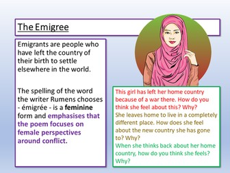 The Emigree - Rumens - Poetry Analysis
