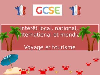 GCSE French -Voyages et tourisme (Travel and Tourism) (2016+) (New AQA / Edexcel)