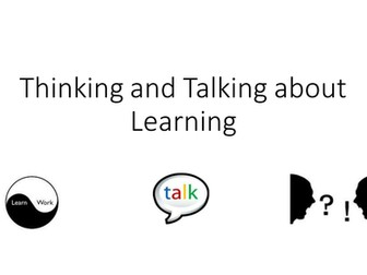 Learning to Learn: talk and think about my learning