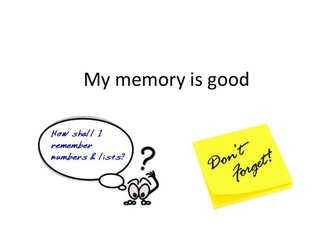 Learning to Learn: my memory is good