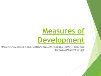 Measures of Economic Development: A Level Economics