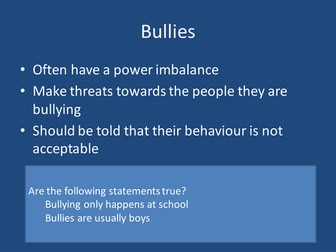Anti bullying / Cyber bullying Lesson (Citizenship)