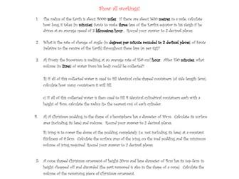 50 x Christmas Maths Word Problems National 5/GCSE