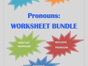 Pronouns: Worksheets