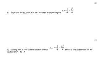 Iteration exam style questions