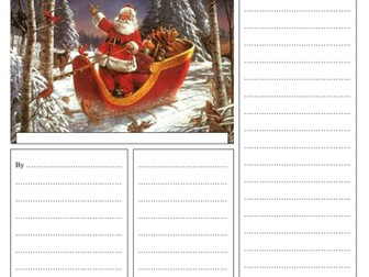 'Santa is coming to town' Newspaper template