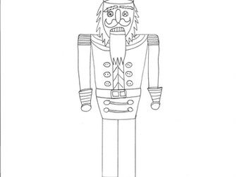 Nutcracker Colouring Page, Christmas