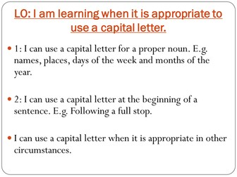 SPAG - CAPITAL LETTERS