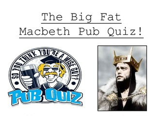 Macbeth Pub Quiz - 1 hour