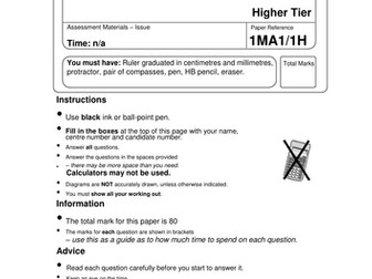 1-9 GCSE EXAM PAPER ON ALGEBRAIC PROOF