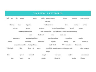 40 VOLLEYBALL LESSON PLANS
