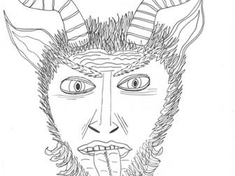 Christmas Folklore: Krampus: Half Devil, Half Goat