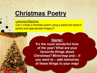 Christmas Poetry Lesson