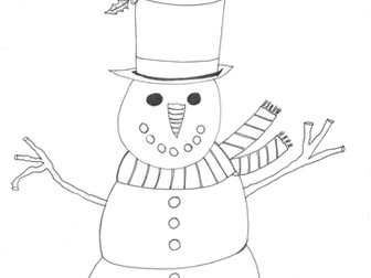 christmas and seasons colouring sheet snowman