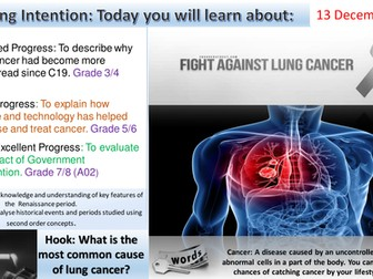 Medicine Through Time:  The Fight Against Lung Cancer. (Edexcel 1-9)