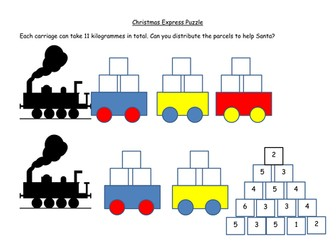 Christmas Express Maths Puzzle