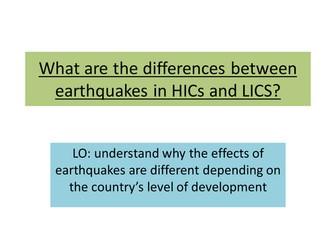 Comparing HIC LIC earthquakes