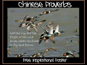 """Chinese Proverb Poster - """"If you walk on snow you cannot hide your footprints"""""""