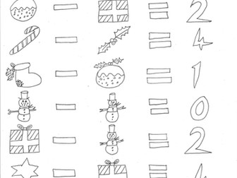 Christmas Maths: Subtraction and Codes