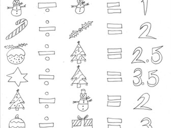 Christmas Maths: Division and Codes