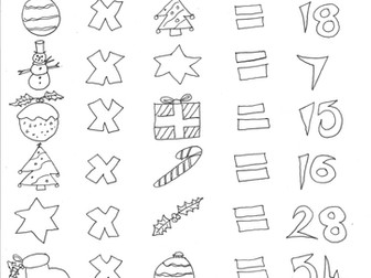 Christmas Maths: Multiplication and Codes