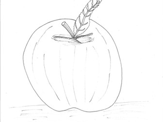 Fruit: Apple Colouring Page
