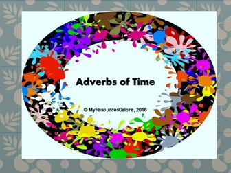 NAPLAN: Year 3 - Adverbs of Time