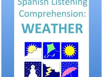 Spanish listening comprehension: weather