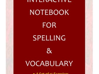 NAPLAN: Year 7 Interactive Notebook for Spelling & Vocabulary
