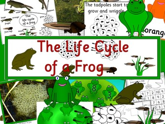 Life Cycle of a Frog- Powerpoints, games, activities, worksheets, sequencing