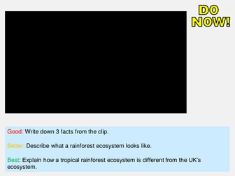 New AQA GCSE The Living World- Tropical Rainforests Lesson #1